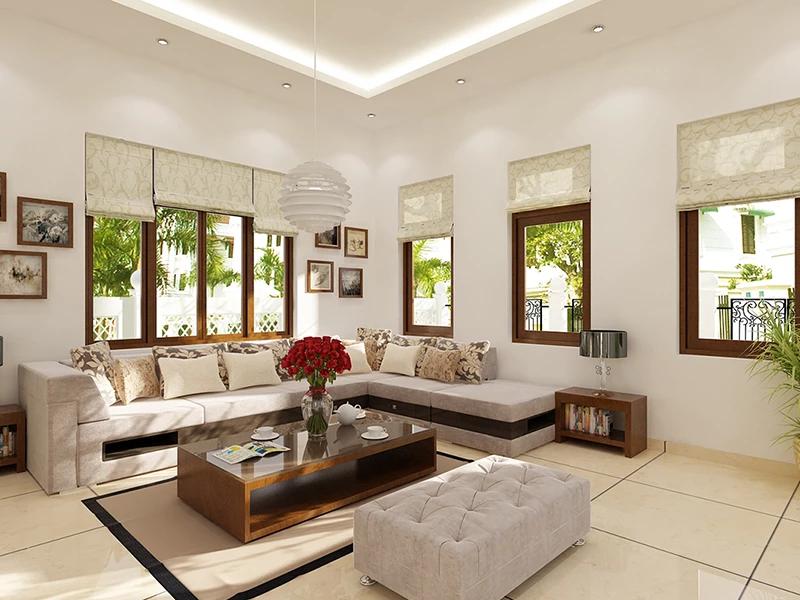 Ghế sofa giúp phòng khách chung cư cao cấp và sang trọng hơn