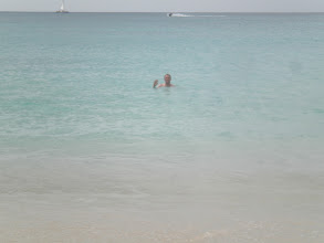 Photo: Brian swimming in Barbados