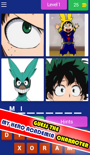 4 Pics Hero Academia Quiz 7.9.3z screenshots 16