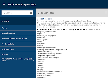 Common Symptom Guide- screenshot thumbnail