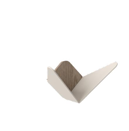 Väggkrok, Butterflies, medium - Pearl White