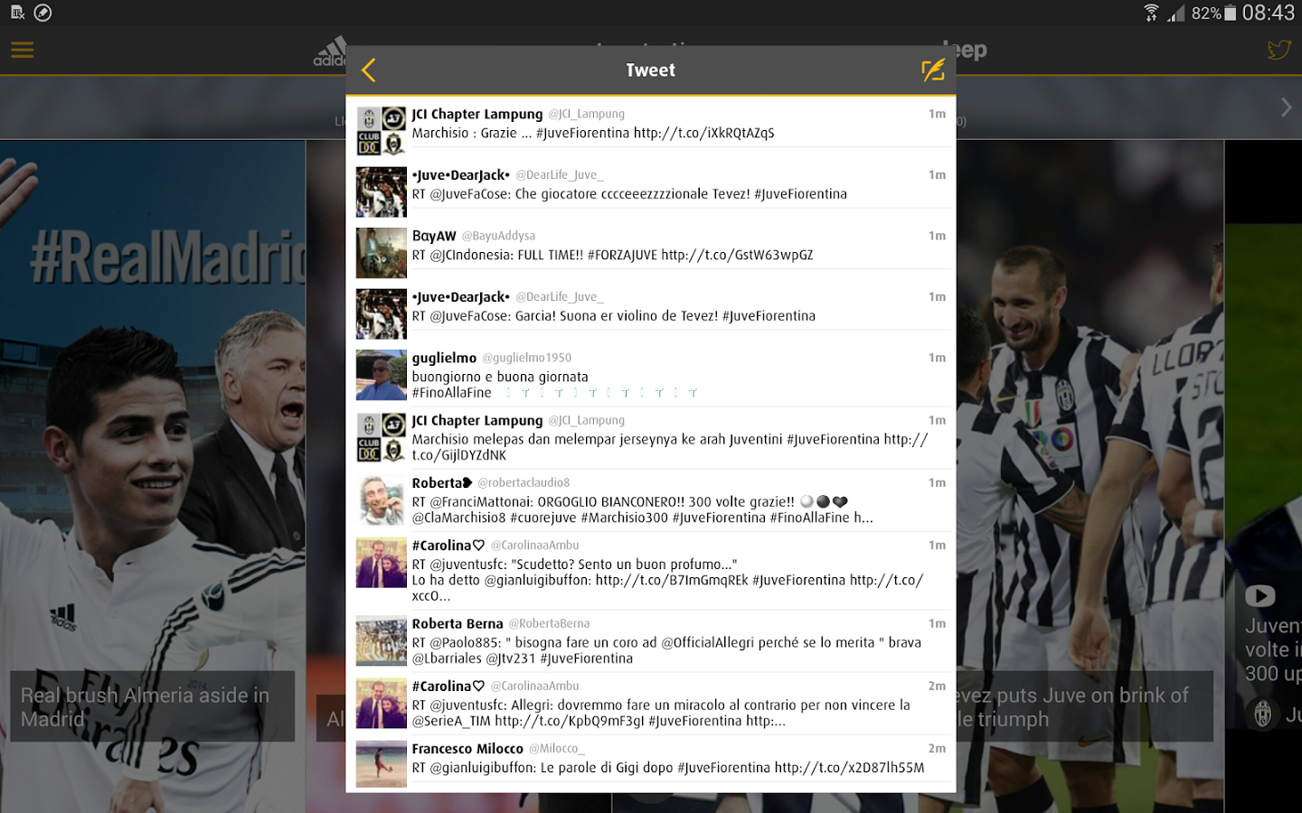 Juventus Live - screenshot