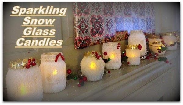 Sparkling Snow Glass Candles Recipe