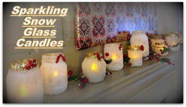 Sparkling Snow Glass Candles Recipe