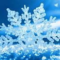 falling snowflake wallpaper icon