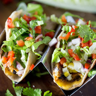 Chipotle Black Bean Burger Tacos.