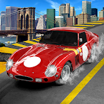 Modern Traffic Speed Racer Car Simulation Icon