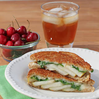 Grilled Brie and Pear Sandwiches.