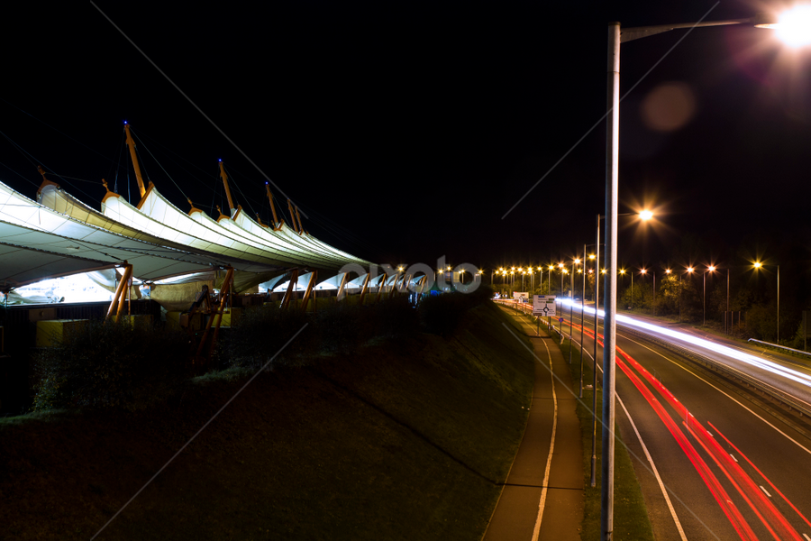 Around the Designer Outlet by Darren Hanks - City,  Street & Park  Street Scenes ( designer outlet, ashford, long exposure, night, architecture )