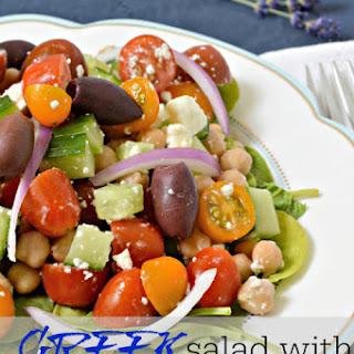 Delicious Greek Salad with Vingerette.