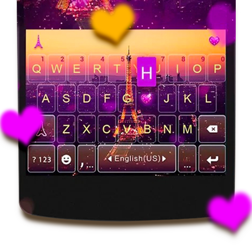 Romantic Paris Kika Keyboard Icon