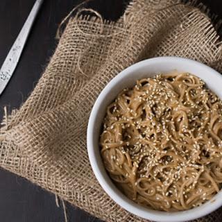 Cold Sesame Soba Noodles.