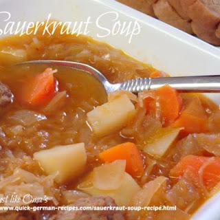 Sauerkraut Soup.