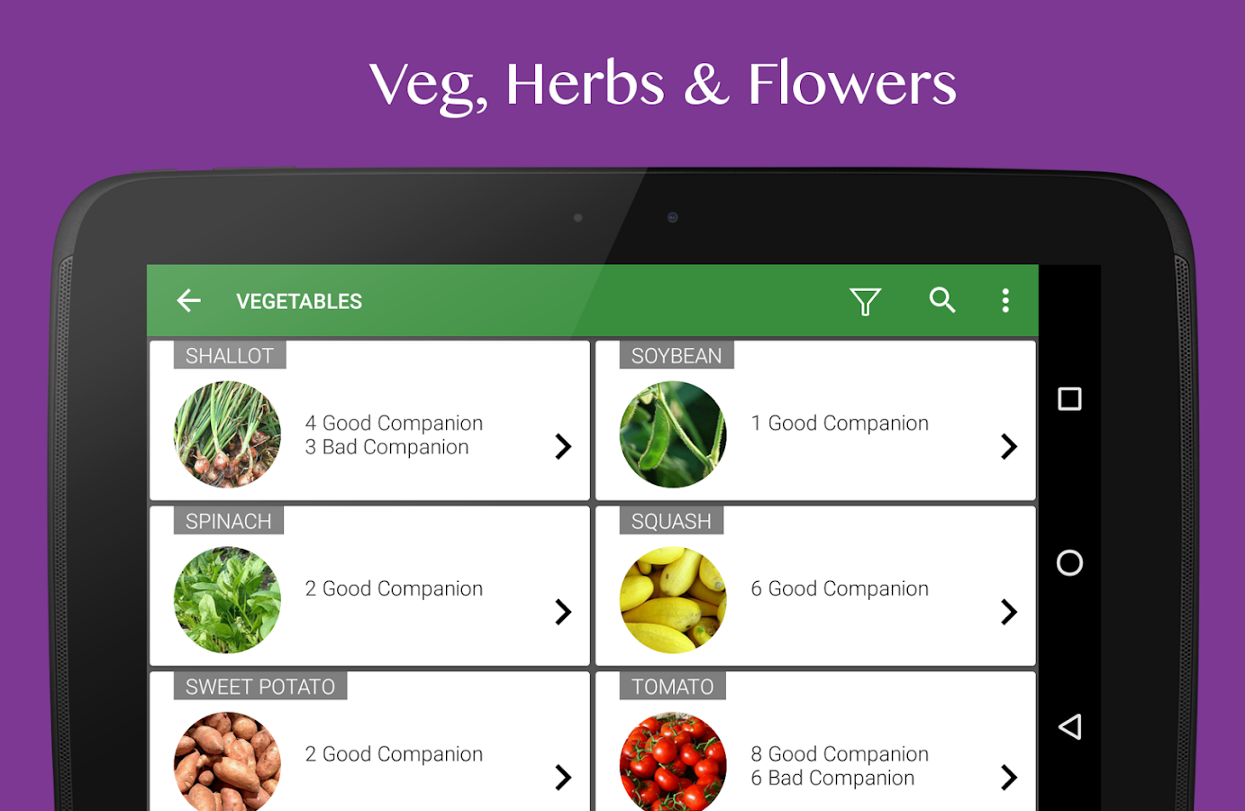 Vegetable garden plant growth android apps on google play for Garden planner app