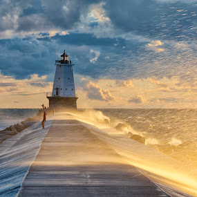Ludington Skies by Charles Anderson Jr - Landscapes Waterscapes