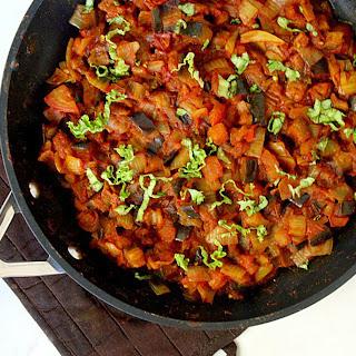 Eggplant Onion and Tomato Stew