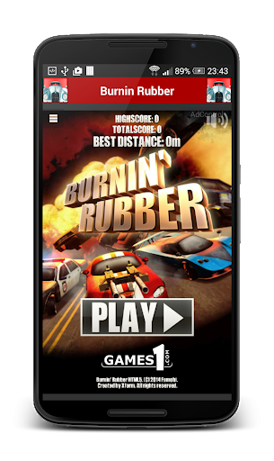 Burnin Rubber Racing Car Game