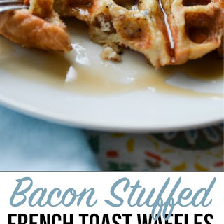 Bacon Stuffed French Toast Waffles