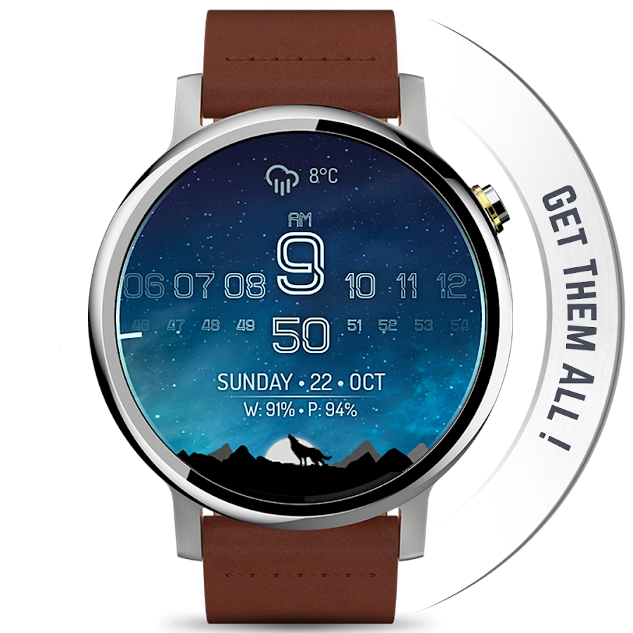 Watch Face - Minimal & Elegant for Android Wear OS- screenshot