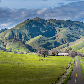Green Valley Farm by Michael Mercer - Landscapes Mountains & Hills (  )