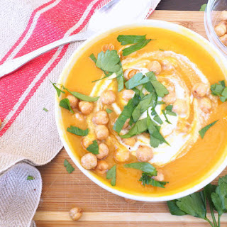 Roasted Butternut Squash Soup with Cashew Cream.