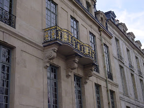 Photo: This gilded balcony is typical of the fine architecture, which served by design to be enjoyed by the public as examples of the city's splendor.