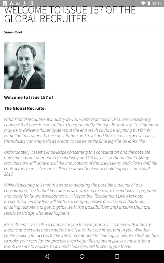 The Global Recruiter- screenshot