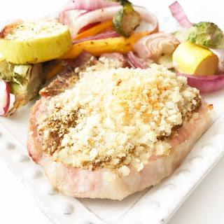 Parmesan Pork Chop Sheet Pan Dinner.