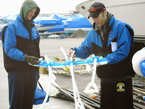 Photo: Grand Valley Crew recieved a special balloon boat http://www.grandvalleyrowing.com/newsite/index.php/home