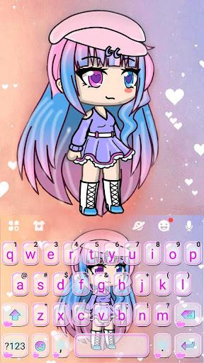 Cute Cartoon Girl Keyboard Theme screenshot 5