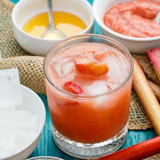 Honey-Roasted Rhubarb Whiskey Sour.