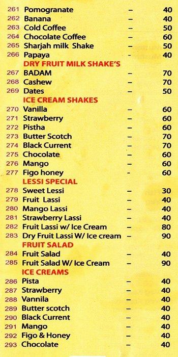 Nile Garden Restaurant menu 4