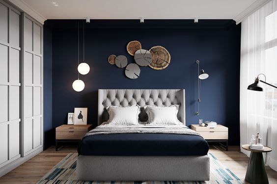 Combination Between Wall Color and Wooden Art