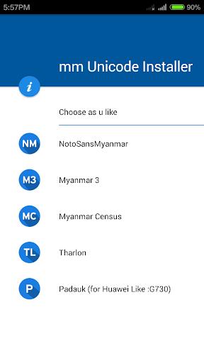 MM Unicode Installer