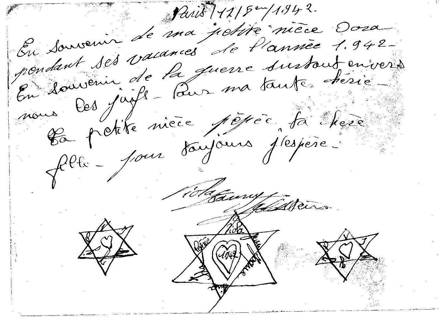 Photo: Verso de la carte 1942