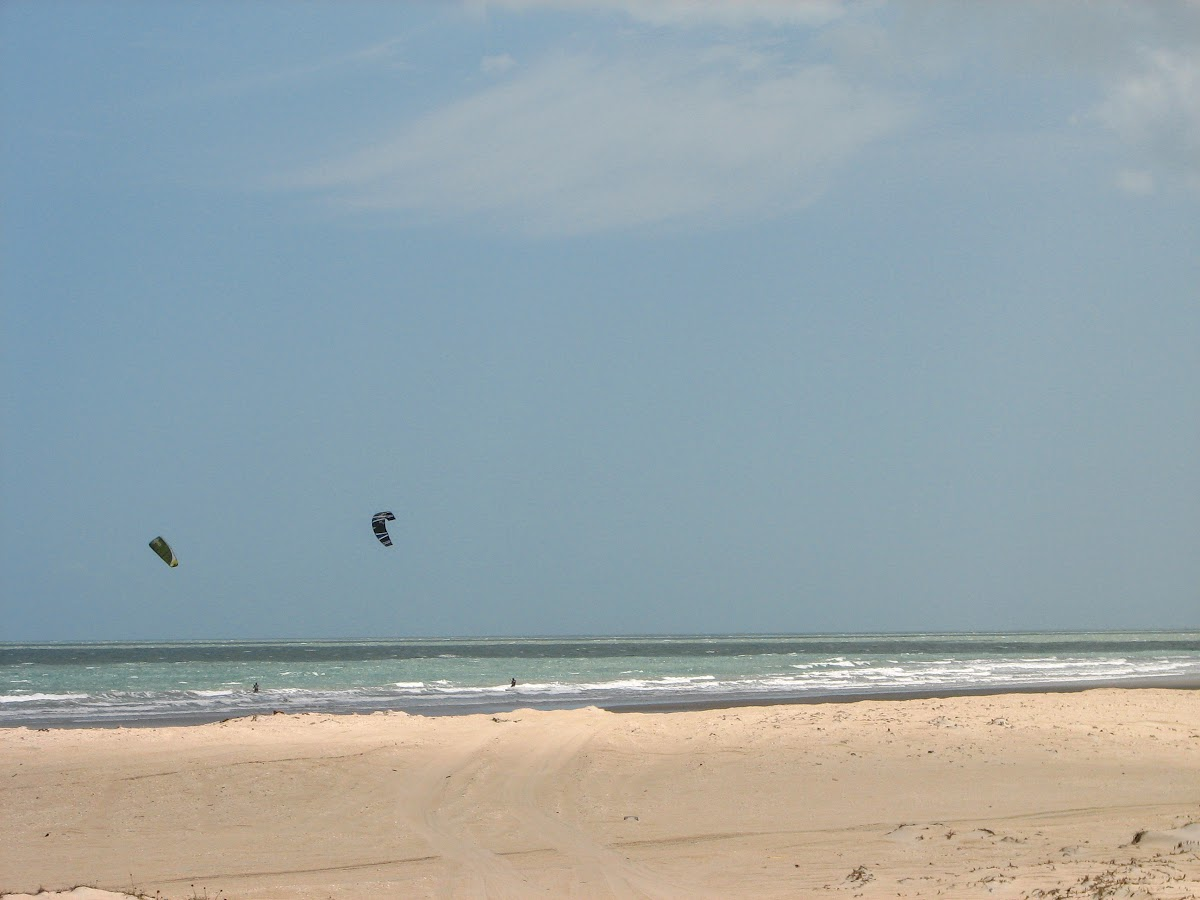 Kitesurfing at Prea