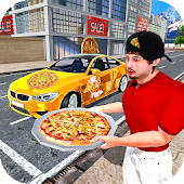 Pizza Delivery in Car