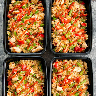 Sriracha Cauliflower Fried Rice Meal Prep Recipe