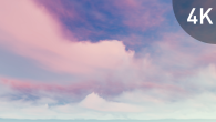White Pink Cirrus Clouds on Violet Sky - 16