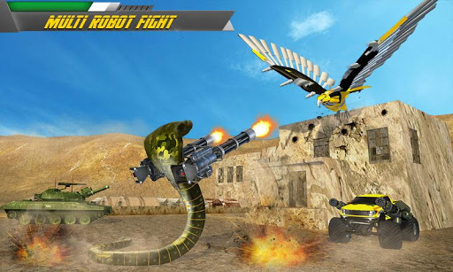 Robot Snake VS Falcon Game Transforming Robot Wars 1.3 screenshots 1