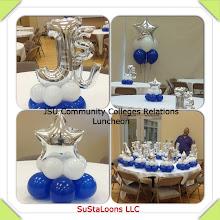 Photo: balloon decor for a luncheon