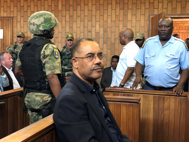 Former Mozambican finance minister Manuel Chang in court in Johannesburg on January 8 2019.