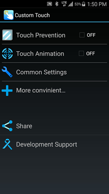 Arrange touch operation freely - Tap Customizer - screenshot