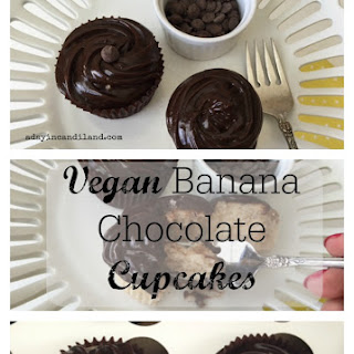Vegan Banana Chocolate Cupcakes.