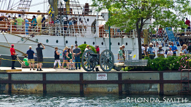 Photo: You can see the swarm of people around the ships...it was so busy there today. Pretty cool though.