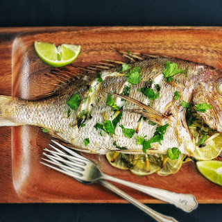 Whole Roasted Snapper.
