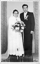 Photo: Szabó Lajos és menyasszonya Ilonka, Szódó-Zselíz, 1950-es évek