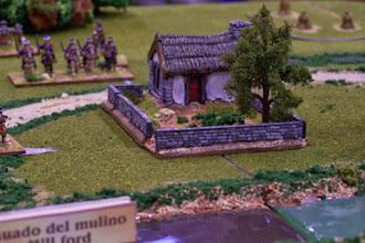 Photo: Il guado del mulino (miniature Donnington, materiale scenico TimeCast e autocostruito)