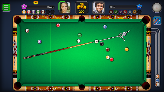 8 Ball Pool Mod Apk 5.2.1 (Long Lines + Stick Guideline + No Ads) 4