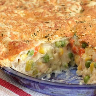 Chicken Pot Pie with Herb and Cheddar Crust.